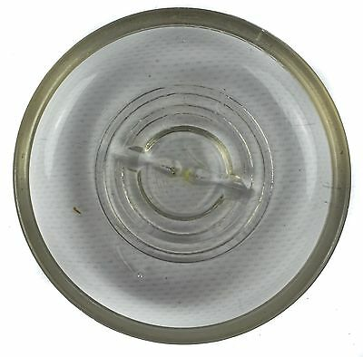 Vintage Ball Mason Jar Glass Lid Only Clear Sure Fit Ideal Pint Quart