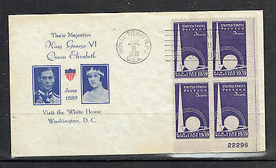 US, 1939 VISIT OF KG VI AND QUEEN ELIZABETH TO THE WHITE HOUSE   (ID3977)