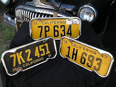 2 - NEW CHRONE 1940 TO 1955 VINTAGE STYLE CALIFORNIA LICENSE PLATE FRAMES 86