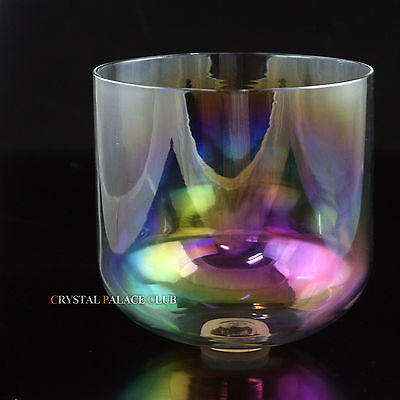 Cosmic light quartz crystal singing bowl Note G 3rd octave throat Chakra 7""