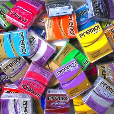 Sculpey PREMO Polymer Clay - Full Satchel - 80 Blocks - Your Choice of Colours