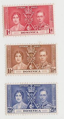 (LM15) 1937 Dominican 3stamps coronation MH