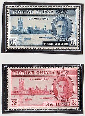 (LM52) 1946 British Guiana 2stamps Victory MH