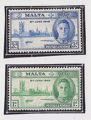 (LM69) 1946 Malta 2stamps Victory MH