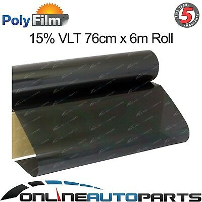 Window Tint Film 15% Dark Black Metalized 76cm-6m Car Auto Home Office DIY Roll
