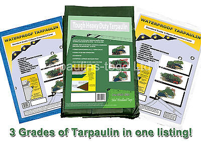 Waterproof Heavy Duty Tarpaulin Tarps Ground Sheet Camping Cover Log Store Wood
