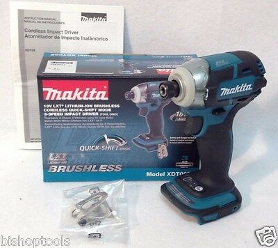 "Makita XDT09Z Brushless 1/4"" Impact Driver 18V 3-Speed Quick Shift Retail Packag"