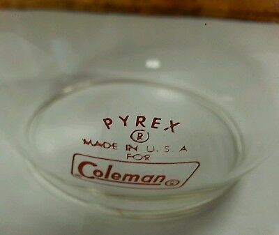 VINTAGE COLEMAN SINGLE MANTLE LANTERN RED LETTERED PYREX GLOBE 200A-242 NICE