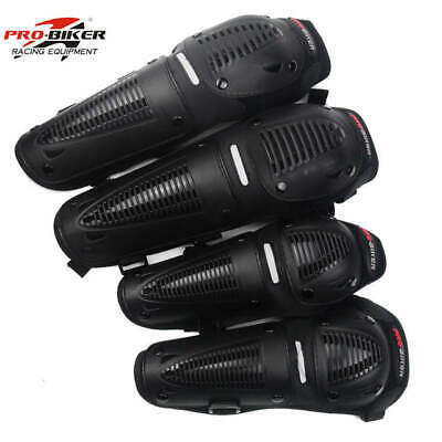 Motocross Racing Sport KNEE SHIN GUARDS MOTO-X Pro Biker Enduro Armour 4 Pads MX