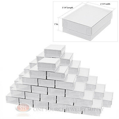 """50 New White Clear View Top Gift boxes 3 1/4"""" x 2 1/4"""""""