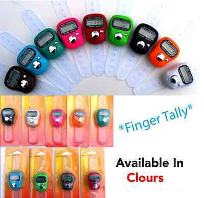 LCD  Digital Digit Hand Finger Tally Counter For Tasbee ,Golf, School & Spot
