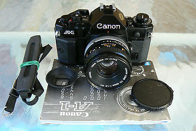 CANON A-1 CAMERA with CANON FD 50MM F1.8 S.C LENS *SERVICED * MINT-