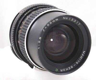 Mamiya Sekor C 55mm F/2.8 Lens And Lens Caps  Exc++ to Mint-