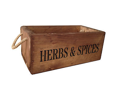 Wooden Herb & Spice Crate Personalised