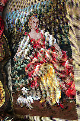 Beautiful Preworked Tramme Tapestry Needlepoint Canvas Kits The Beaty