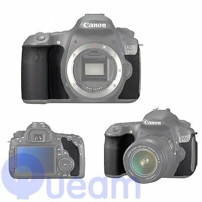 Body Front Back Rubber Cover Shell Replacement Part For Canon EOS 60D Repair