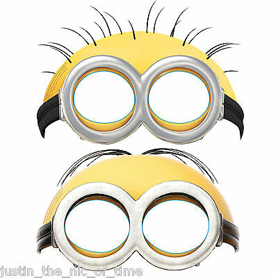 Despicable Me MINIONS Childrens Boys Girls Birthday Party Minion Face Masks x6