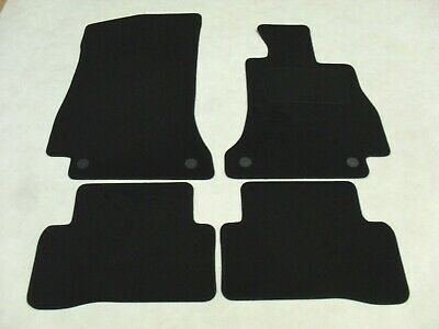 Mercedes C Class W205 2014-on Fully Tailored Deluxe Car Mats in Black