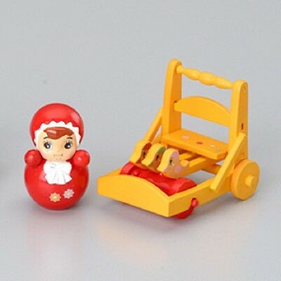 Megahouse dollhouse miniature red doll baby cart toy