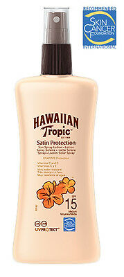 Hawaiian Tropic Satin Protection Sun Spray Lotion SPF 15 200ml