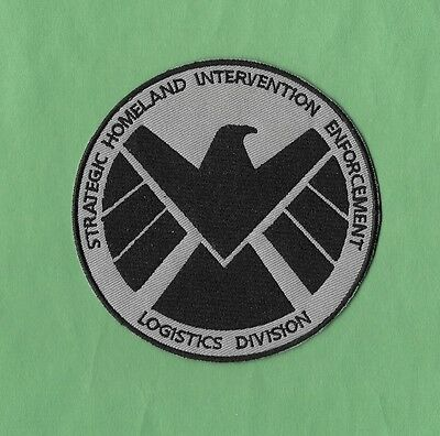 "4"" Avengers Movie AGENTS OF SHIELD S.H.I.E.L.D Nick Fury Iron-on Logo PATCH!"