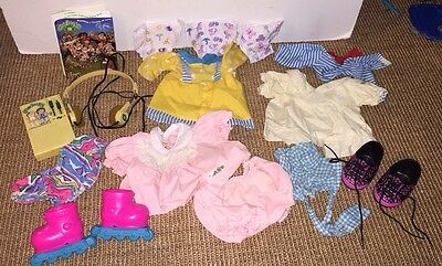 Lot of Cabbage Patch Kids Brand Doll Clothes Shoes Radio Diapers Vintage CPK