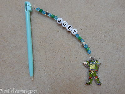 Personalised DSi DS Lite Stylus / Pen with charm TMNT Turtles