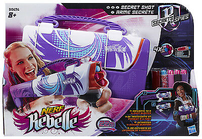 Nerf Rebelle Secrets & Spies Secret Shot - ausklappbarerer Blaster - violett