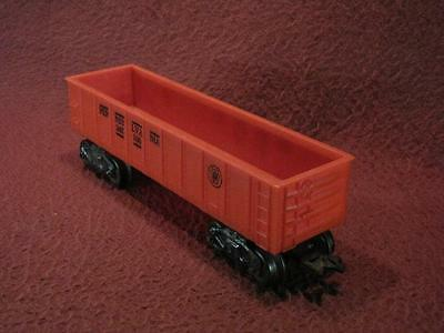 O-GAUGE MARX 347100 PENNSYLVANIA 8-WHEEL GONDOLA CAR - RED