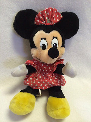 Vtg Disneyland Walt Disney World Park Minnie Mouse Plush Doll Seated 10""
