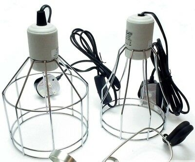 Wire Clamp Lamp Holder E27 200W or 250W for Reptile Vivariums