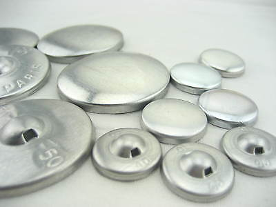large Fabric self Cover Buttons Aluminum Flat Ring Back DIY fabric button
