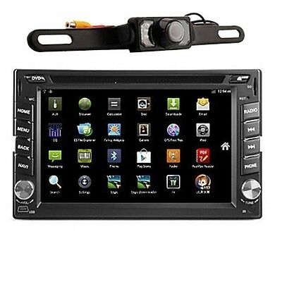 """Android 6.2"""" Double 2Din 3G-Wifi Car GPS Nav DVD Player BT Stereo Radio FREE CAM"""