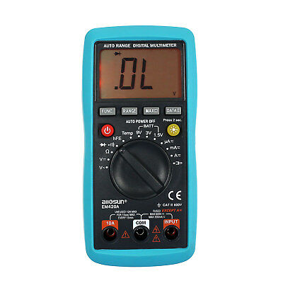 LCD Auto Range Digital Multimeter Buzz AC DC Volt Amp OHM Temp Tester US Ship