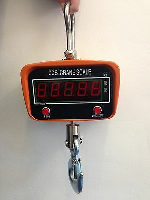 Portable 1000Kg Crane Scales Digital Hanging Weighing Luggage Industrial - 1 Ton