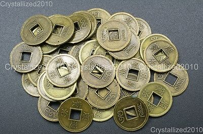 Alloy Metal Ancient Chinese Coin Shape Loose Beads Charm Connector Findings 17mm