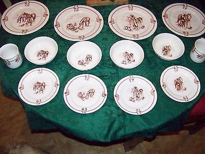 Totally Today Western Cowboy Dishware Set