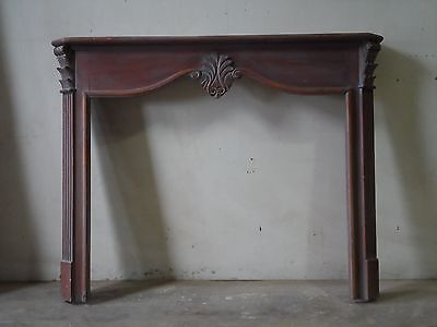 Hand Carved Fireplace Mantel Distressed  (Item # FM-A)