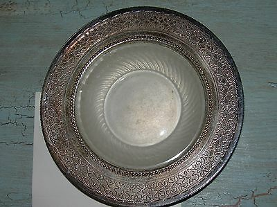 ANTIQUE ENGLISH PLATE BUTTER PLATE ENGRAVED FLAUGE 1885 WITH PAPERS