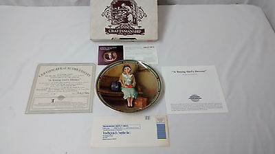 Knowles Norman Rockwell A Young Girl's Dream 1985 Collector Plate