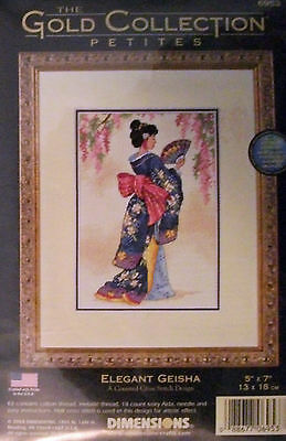 """""""ELEGANT GEISHA"""" - Counted Cross Stitch Kit by Dimensions - GOLD COLLECTION"""