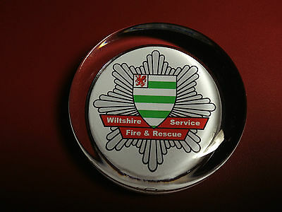 WILTSHIRE   FIRE & RESCUE SERVICE   70mm  GLASS PAPERWEIGHT
