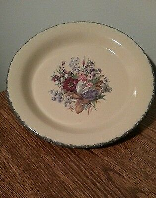 "Home & Garden Party FLORAL Stoneware 10"" Dinner Plate"