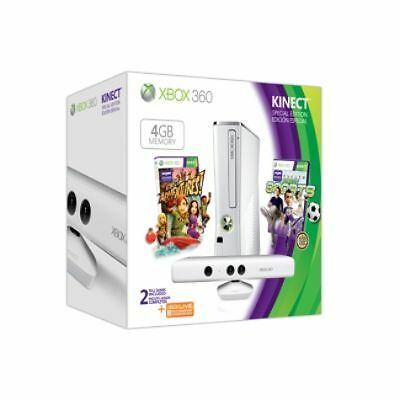Microsoft Xbox 360 Special Edition Kinect Family Bundle 4 GB White Console...