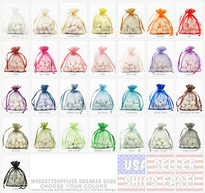 """30 Organza Favor Bags, 6x9 Inches: Bridal, Gifts, Party 6"""" x 9""""[CHOOSE] -USAship"""