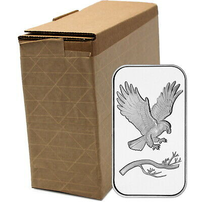 Trademark Bald Eagle 1oz .999 Fine Silver Bars by SilverTowne (100 pc)