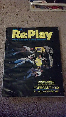 9 issues Replay Magazine Arcade Coin Op 1992 V17 #4,5,7,8,9,11,12 V18 #1