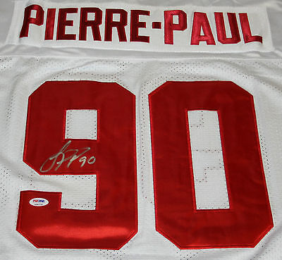 JASON PIERRE PAUL Signed New York Giants Jersey Autograph Auto PSA Size 52 X-Lg