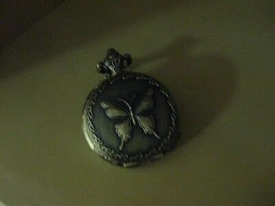 Wicca Mualina's Haunted Butterfly Pendant Pocket Watch ~Enhance wealth and luck~