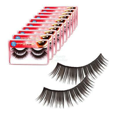 New 20 Pairs 0.43inch Soft Synthetic Fiber False Eyelashes for Makeup Party B-49